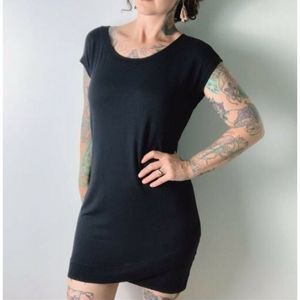 Athleta Small Black Dress Soft Modal Criss Cross